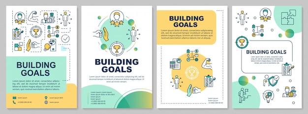 Plantilla de folleto de objetivos de construcción