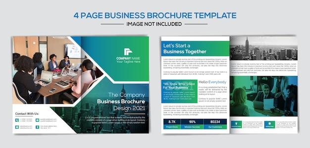 Plantilla de folleto de páginas creativas y profesionales