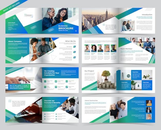Plantilla de folleto - paisaje empresarial