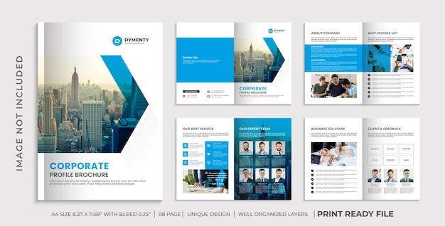 Plantilla de folleto de perfil de empresa, diseño de folleto corporativo