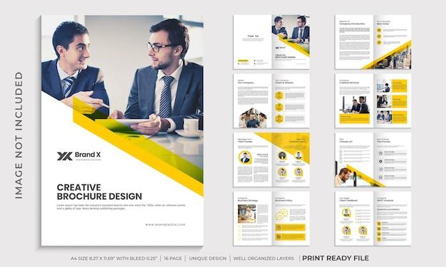Plantilla de folleto de perfil de empresa, diseño de plantilla de folleto comercial