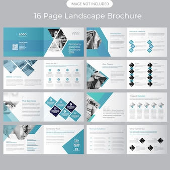 Plantilla de folleto - perfil de la empresa paisaje