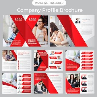 Plantilla de folleto - perfil de la empresa