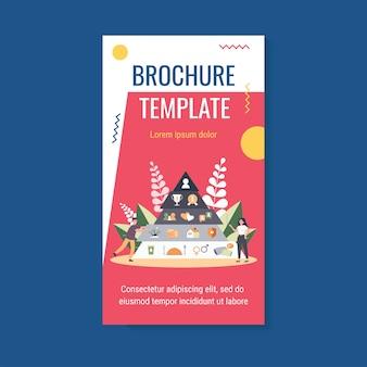 Plantilla de folleto de pirámide de jerarquía