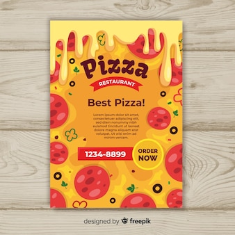 Plantilla de folleto de pizza