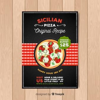 Plantilla de folleto de pizza