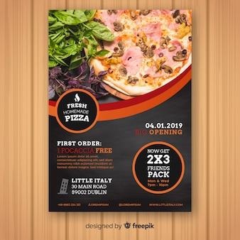 Plantilla de folleto de pizzeria
