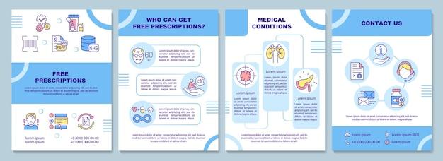 Plantilla de folleto de prescripción gratuita