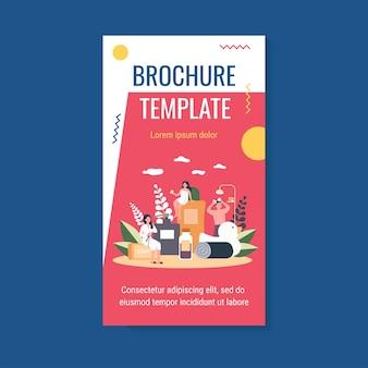 Plantilla de folleto de procedimientos de baño y spa