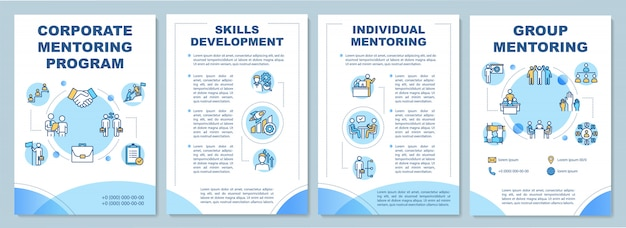 Plantilla de folleto del programa de mentoría corporativa