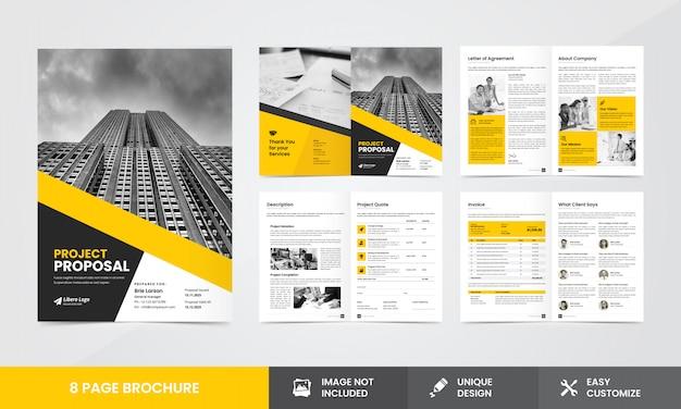 Plantilla de folleto de propuesta de empresa