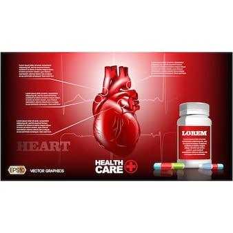 Plantilla de folleto de salud