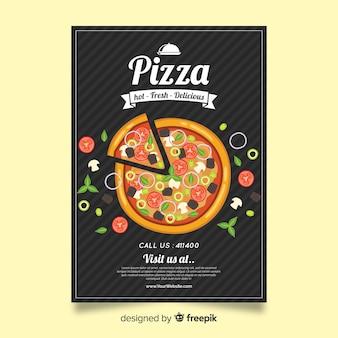 Plantilla de folleto sobre pizza