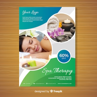 Plantilla de folleto de spa