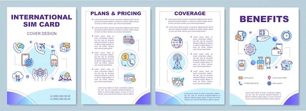 Plantilla de folleto de tarjeta sim internacional