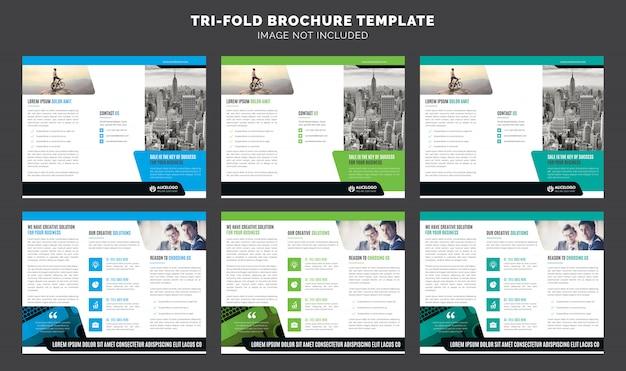Plantilla de folleto triple