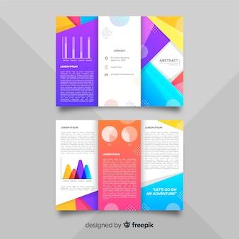 Plantilla de folleto tríptico abstracto