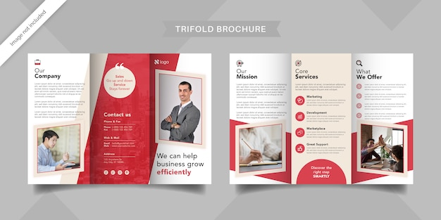 Plantilla de folleto tríptico corporativo