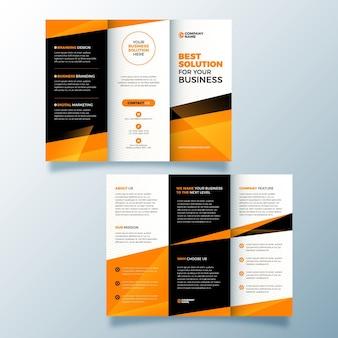 Plantilla de folleto tríptico de diseño abstracto