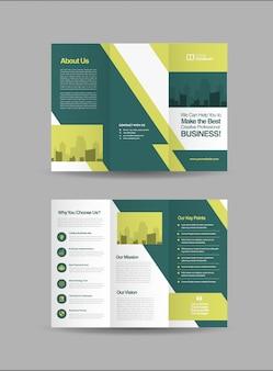 Plantilla de folleto tríptico empresarial