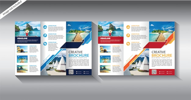 Plantilla de folleto tríptico para folleto de diseño