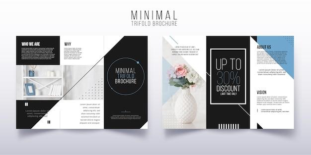 Plantilla de folleto tríptico mínimo
