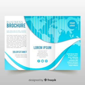 Plantilla de folleto tríptico de negocio