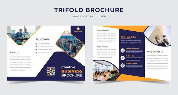 Plantilla de folleto tríptico de negocios corporativos