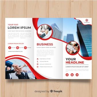 Plantilla de folleto tríptico de negocios