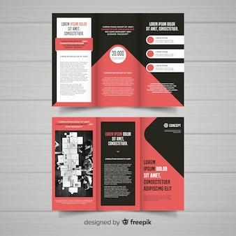 Plantilla de folleto tríptico para negocios