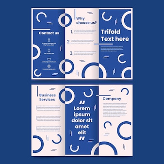 Plantilla de folleto tríptico