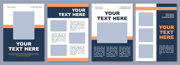 Plantilla de folleto turístico. servicios relacionados con el turismo. folleto, folleto, impresión de folletos, diseño de portada con espacio de copia. tu texto aqui. diseños vectoriales para revistas, informes anuales, carteles publicitarios.