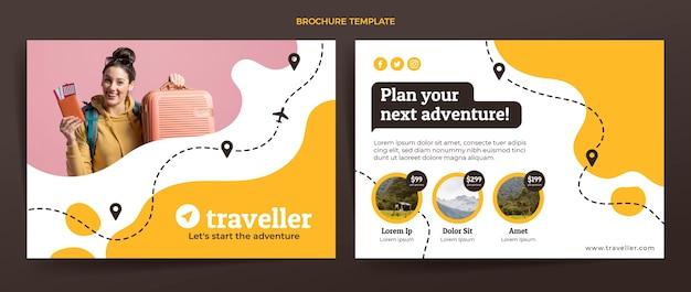 Plantilla de folleto de viaje plano