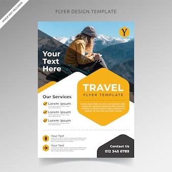 Plantilla de folleto de viaje y vacaciones