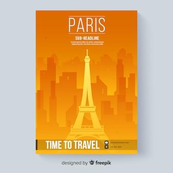 Plantilla de folleto de viaje
