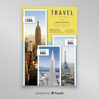 Plantilla de folleto de viajes