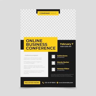 Plantilla de folletos de seminarios web