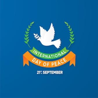 Plantilla de fondo de 21 de septiembre día de la paz