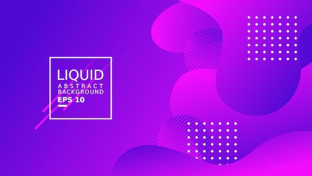 Plantilla de fondo abstracto líquido. color púrpura.