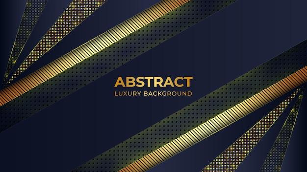 Plantilla de fondo abstracto de lujo con elemento de líneas doradas