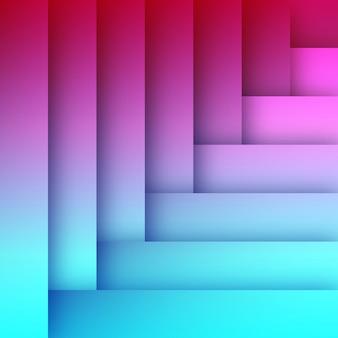 Plantilla de fondo abstracto plano azul y rosa