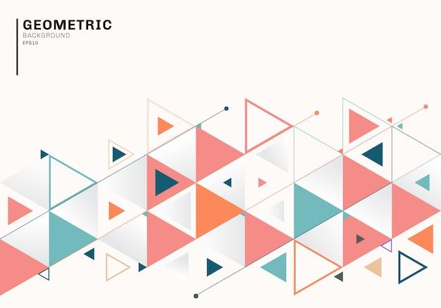 Plantilla de fondo abstracto con triángulos de colores