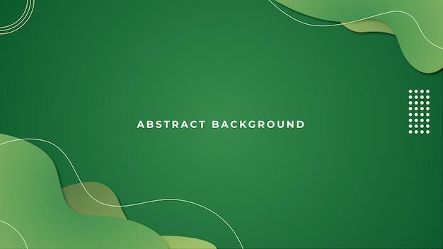 Plantilla de fondo abstracto verde