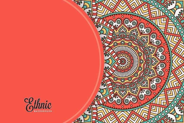 Plantilla de fondo colorido mandala