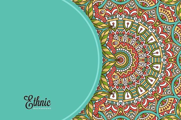 Plantilla de fondo colorido mandala vector gratuito