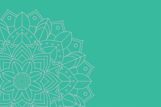 Plantilla de fondo con diseños de mandala