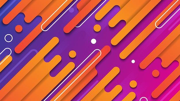 Plantilla de fondo geométrico abstracto colorido