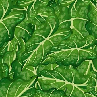 Plantilla de fondo con hojas verdes