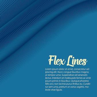 Plantilla de fondo de líneas onduladas azules