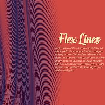 Plantilla de fondo de líneas onduladas rojas